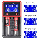 UltraFire Universal Battery Charger H2 Portable Travel Speedy Smart Charger LCD Display Charger for Rechargeable Batteries Ni-MH Ni-Cd AA AAA Li-Lon 14500 16340 18650 RCR123 26650