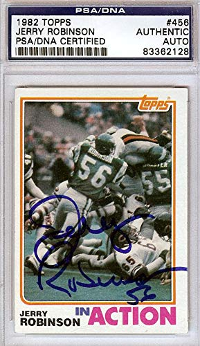 Jerry Robinson Autographed 1982 Topps Card Philadelphia Eagles #83362128 - PSA/DNA Certified - NFL Autographed Football Cards - Philadelphia Eagles Autographed Card