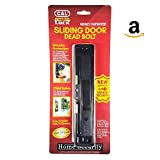 CAL Lock Smart Bolt Lock Sliding Door Latch Heavy Duty Steel Surface Double Security Pin Locking Hitch Black