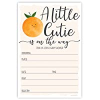 Little Cutie Baby Shower Invitations (20 Count) with Envelopes - Gender Neutral or Girl Baby Shower