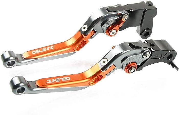 Motorrad Einstellbar Faltbar Brems Kupplungshebel Cnc Aluminium Hebel Für Ktm Duke 790 2018 2019 Titan Orange Titan Orange Auto