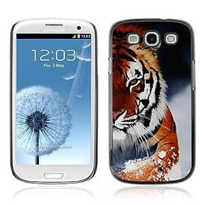YOYOSHOP [Ferocious Snow Tiger ] Samsung Galaxy S3 Case WANGJING JINDA