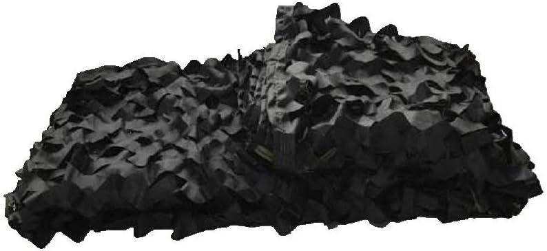 ガーデンシェードネット 迷彩ネットウッドランドミリタリーデザートキャンプ狩猟射撃ブラインド日焼け止めネッティング迷彩パーティー装飾 ギラン HH (Color : 黒, Size : 5 x 5 M) 黒 5 x 5 M