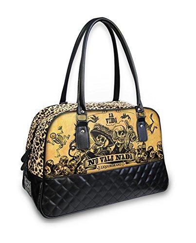 Liquor Brand - bolso tipo bolera de Piel Lisa Mujer Large