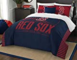 MLB Boston Red Sox Grand Slam Two Sham Set, Scarlet, Full/Queen Size