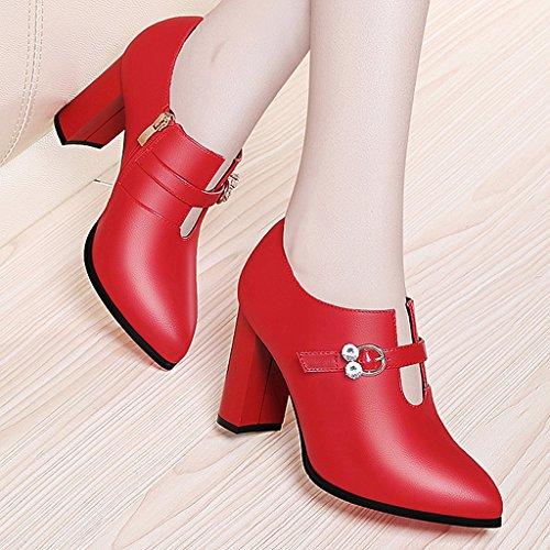 imperméable hiver en automne talons chaussures fine Les l'eau Rouge et des tendance à section hauts femmes 080THa