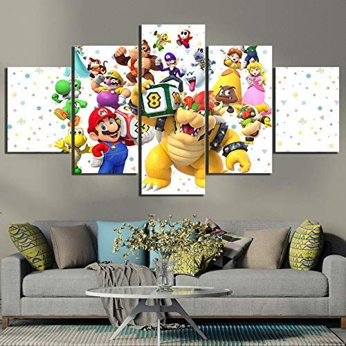 Home Decoration 5 Pieces Cartoon Game Picture Boy Bedroom Wall Art Poster 30x40 30x60 30x80cm Frameless (ELL917)