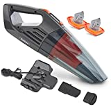 VonHaus 14.8V Cordless Handheld Wet & Dry Vacuum Cleaner – Powerful 6Kpa Cyclonic Suction with Rechargeable Lithium-Ion Battery, Docking Station, 2x Filters and Accessories for Home and Car Cleaning