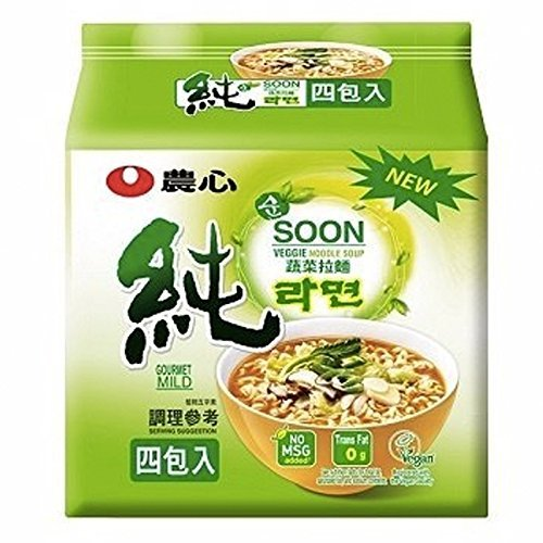 Price comparison product image (VALUE FAMILY PACK) NONGSHIM SOON VEGGIE RAMYUN NOODLE SOUP 4 PACK