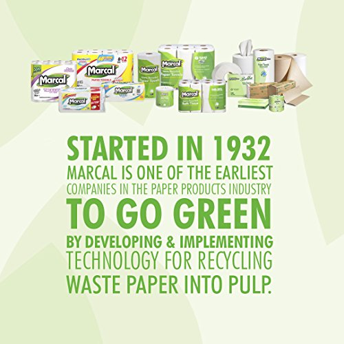 Marcal Pro Aspen Facial Tissue - 100% Recycled, 2-Ply, White Tissues - 144 Sheets Per Box, 36 Flat Office Tissue Boxes per Case 03305 by Marcal (Image #4)