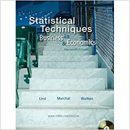 Book Statistical Techniques in Business and Economics by Lind (2010-08-01)