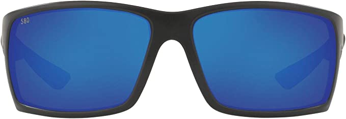 Costa Del Mar Reefton Blue Mirror Polarized Plastic Rectangular Sunglasses