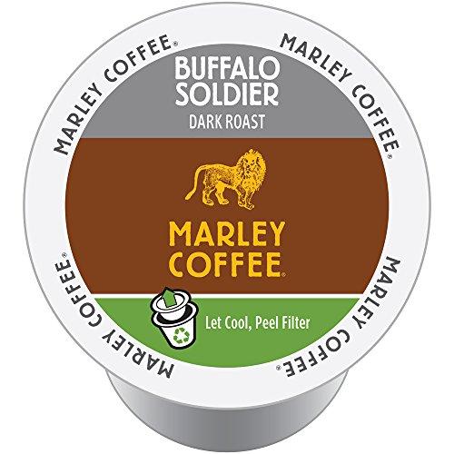 Marley Coffee, Buffalo Soldier, Dark Roast, 24 Single Serve RealCups