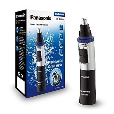 Panasonic-ER-GN30-K503-Naricero-Recortador-de-Vello-Facial-Nariz-Oreja-Cejas-y-Bigote-Acero-Inoxidable-Funcion-con-Pilas-Sistema-de-Limpieza-Inteligente-Azul-Negro-Plata