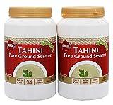 Kyпить Baron's Kosher 100% Pure Ground Sesame Tahini 16-ounce Jars (Pack of 2) на Amazon.com