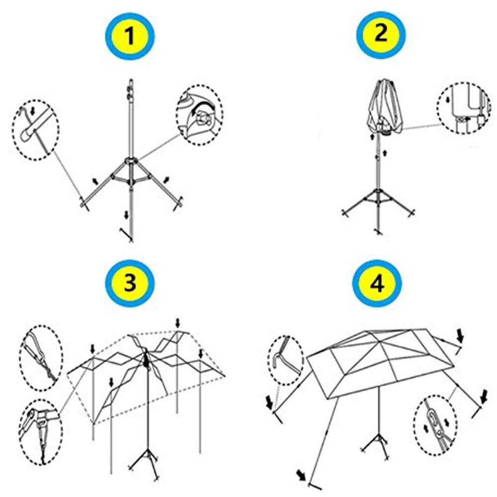 S SMAUTOP Tente de Voiture Protection Automatique de Parapluie de Voiture Couverture de Voiture Automatique Abris portatifs /à l/épreuve du Soleil Enti/èrement Automatique