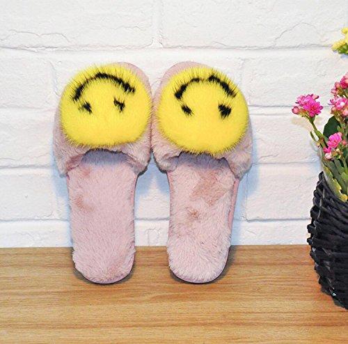 Agua Rosado Zapatillas Sonrisa DANDANJIE caseros fritos de Mujer Zapatilla Zapatos Zapatos Mujer Huevos Plana de Invierno Antideslizante 3 de de Chanclas de Interior Colores 4zzrgq0tnw