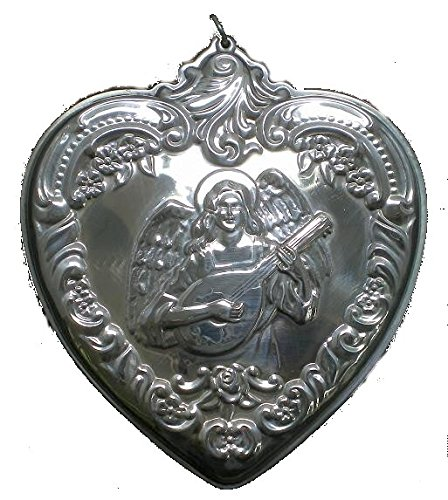 (1997 Wallace Grande Baroque Heart with Angel Sterling Christmas Ornament 5th Edition)