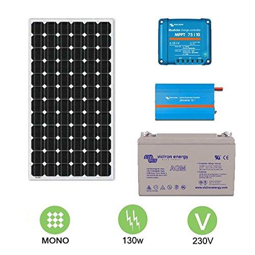 Kit fotovoltaico de 130 W a 230 V