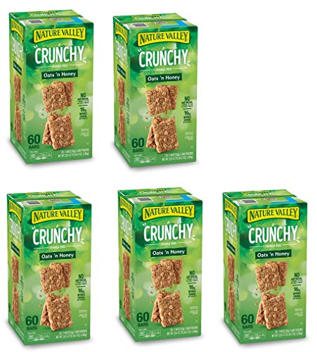 Natures Valley granola bars, Crunchy Oats N Honey, 60 Bars (5 Boxes) by  (Image #1)