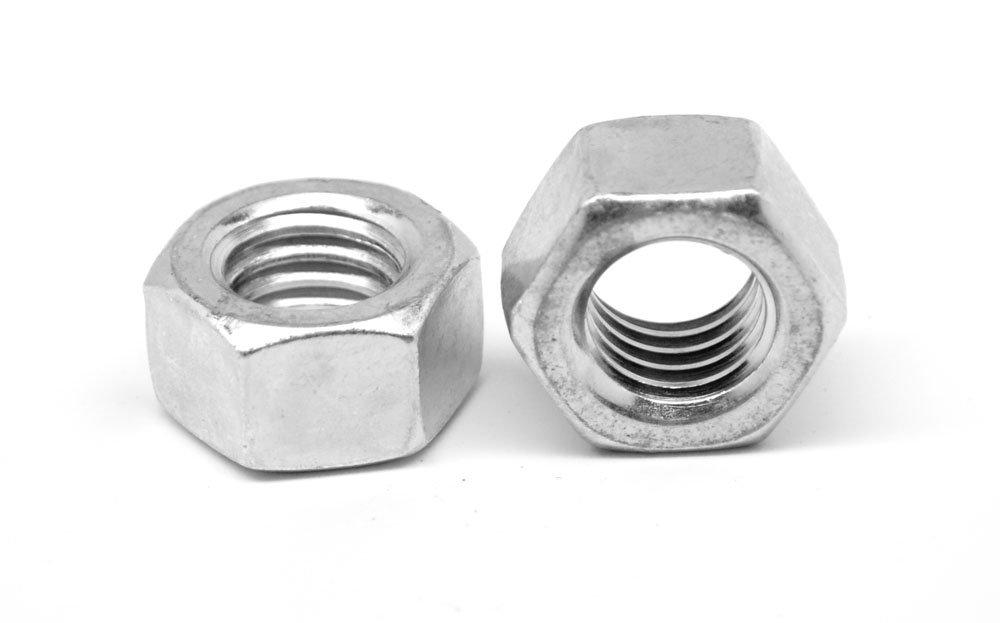 3/8-16 Coarse Thread Finished Hex Nut Aluminum Pk 25