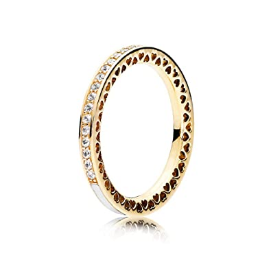 cb9166e3a Amazon.com: PANDORA 150186CZ 14K Radiant Hearts of PANDORA Ring: Watches