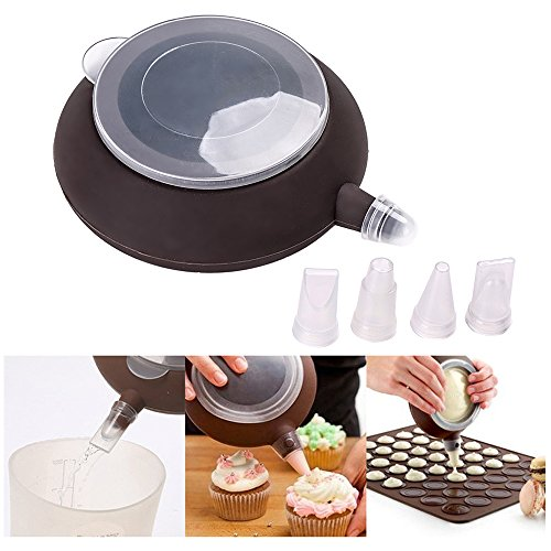 Making Puff Pastry (Ogori French Macaroon Baking Set - Baking Decorating Homegarden Cake Cookie Non-Stick Kit - 4 Nozzles - Cup Cake Muffin Pastry Cream Icing - Food grade Silicone(FDA) | BPA Free)