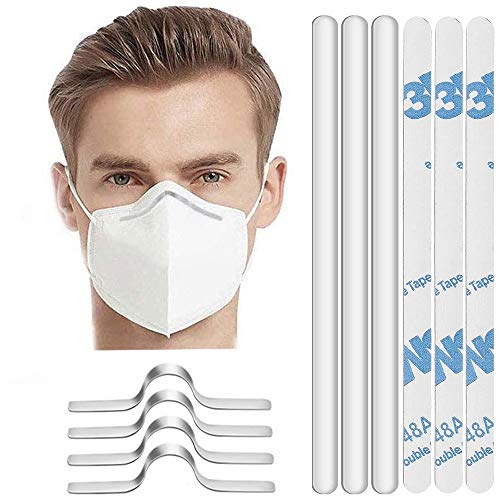 200 Pcs Aluminum Nose Strip For Masks,Metal Nose Wire for Mask,Adjustable Flat Nose Clip Wire for DIY Face Mask Making Accessories for Sewing Crafts, Handmade Mask Supplies