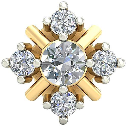 PC Jeweller The Mairi 18KT Yellow Gold   Diamond Nose Pin