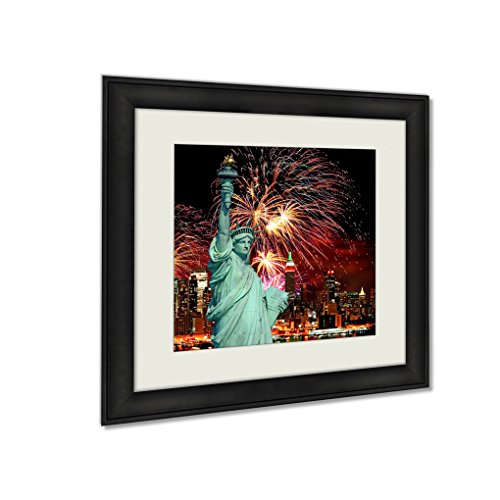 Ashley Framed Prints The Statue Liberty Holiday Fireworks, Wall Art Home Decor, Color, 22x22 (frame size), AG5413279 by Ashley Framed Prints
