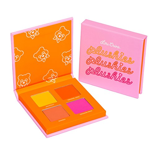 (Lime Crime Plushies Pressed Pigment Eyeshadow Quad Makeup Palette (Fresh Squeezed))
