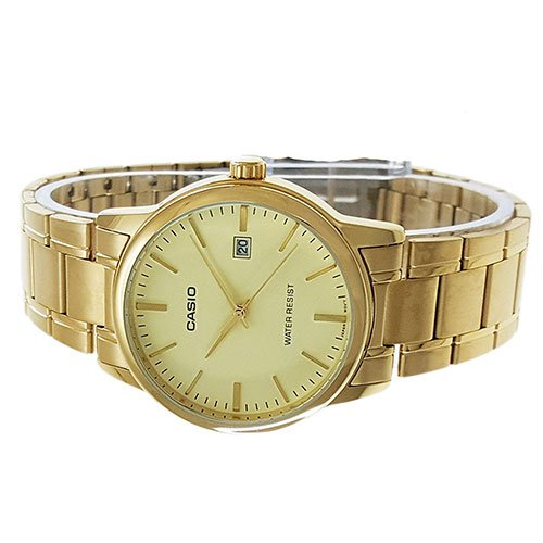 ee41221f4 Casio #MTP-V002G-9A Men's Standard Analog Gold Tone Stainless Steel Date  Watch
