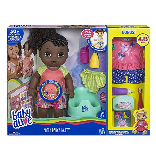 Baby Alive Exclusive Potty Dance Value Pack (Black Curly Hair) from Baby Alive