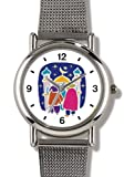 Moslem or Muslim Men at Shrine - WATCHBUDDY ELITE Chrome-Plated Metal Alloy Watch with Metal Mesh Strap-Size-Large ( Men's Size or Jumbo Women's Size )