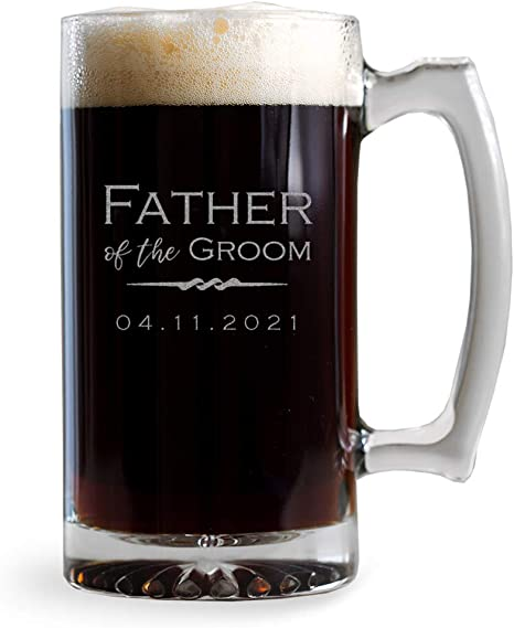 Wedding gifts grooms father gifts Groomsmen gift Father Of The Groom Beer Glass