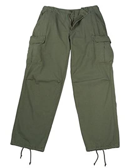 Amazon.com  Olive Drab Rip-Stop Vintage Vietnam Fatigue Pants (X ... 81ecf89f1fc