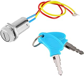 2 Wires Ignition Switch Key Starter Switch with 2 Keys On-Off for Electric Scooter ATV Moped Go Kart (1 pack)