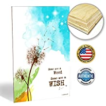 "ZENDORI ART ""Some See A Weed"" Inspirational Art Wall Decor - Made in USA (Wood Art, 12x18)"