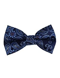 DBD7B04B Certificate Design Blue Patterned Working Day Microfiber Pre-Tied Bow Tie Young Gentlemen By Dan Smith