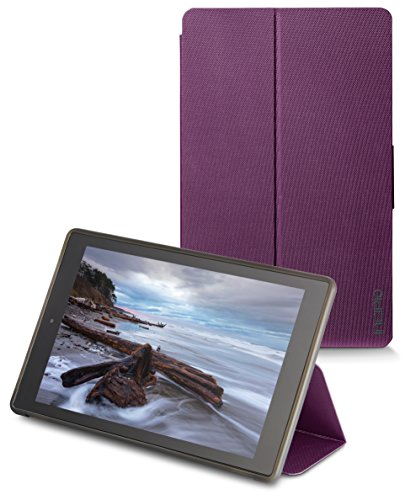 - Incipio Clarion Folio Fire HD 10 Case (5th Generation - 2015 release), Plum Purple