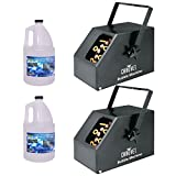 Chauvet B250 Bubble Machine Pair w/ (2) Gallon Bubble Fluid
