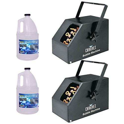 Chauvet B250 Bubble Machine Pair w/ (2) Gallon Bubble Fluid by Chauvet