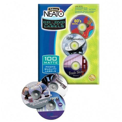 Fellowes CD/DVD Labels Photo Quality Matte Finish 100pcs