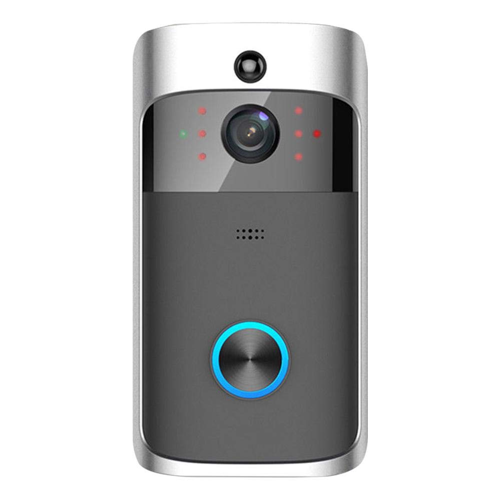 Widewing WiFi Smart Doorbell with Camera V5 Visual 2 Way Talk 720P Camera Night Vision Intercom Smart Home Doorbell (Silver)
