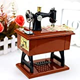 Patty Both Musical Sewing Machine Music Box Vintage Look (brown-2)