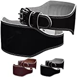Mytra Fusion 6 inch Leather Weight Lifting Belt Courted Power Lifting Back Support