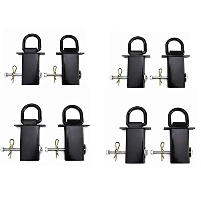 Lonwin 8PCS Heavy Duty Removable Stake Pocket D-Ring for Flatbed & Utility Trailers: Automotive