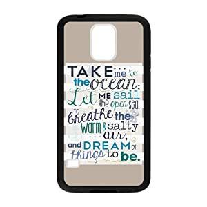 SnowPageboy -TPU Rubber Phone Case for Samsung Galaxy S5 SV i9600 - Anchor Nautical Quote