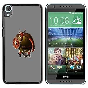 For HTC Desire 820 Case , Cartoon Viking Beard Axe - Diseño Patrón Teléfono Caso Cubierta Case Bumper Duro Protección Case Cover Funda