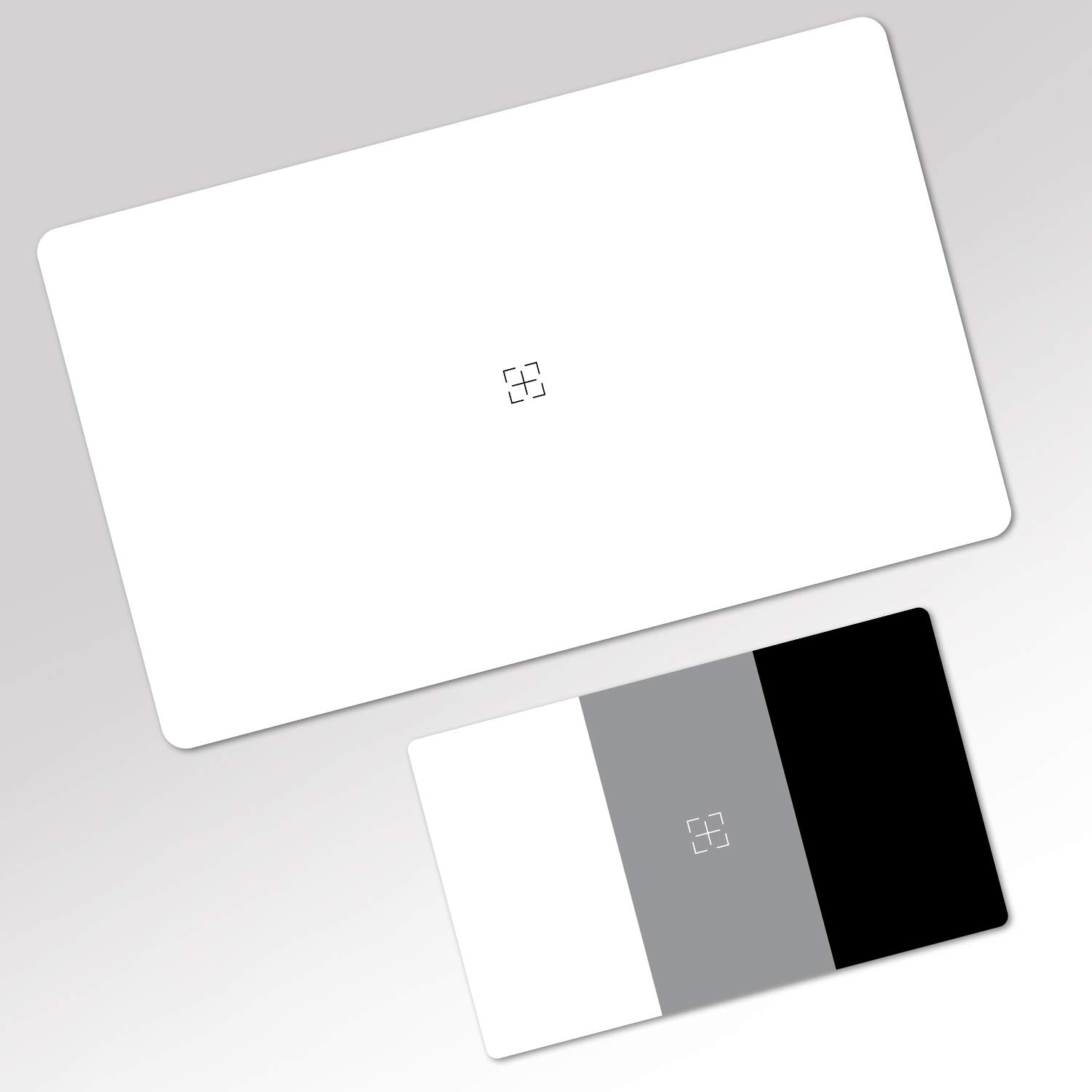 Mid-size and 3x2 cards The 2 in 1 Grey White Balance Colour Card Duo Set